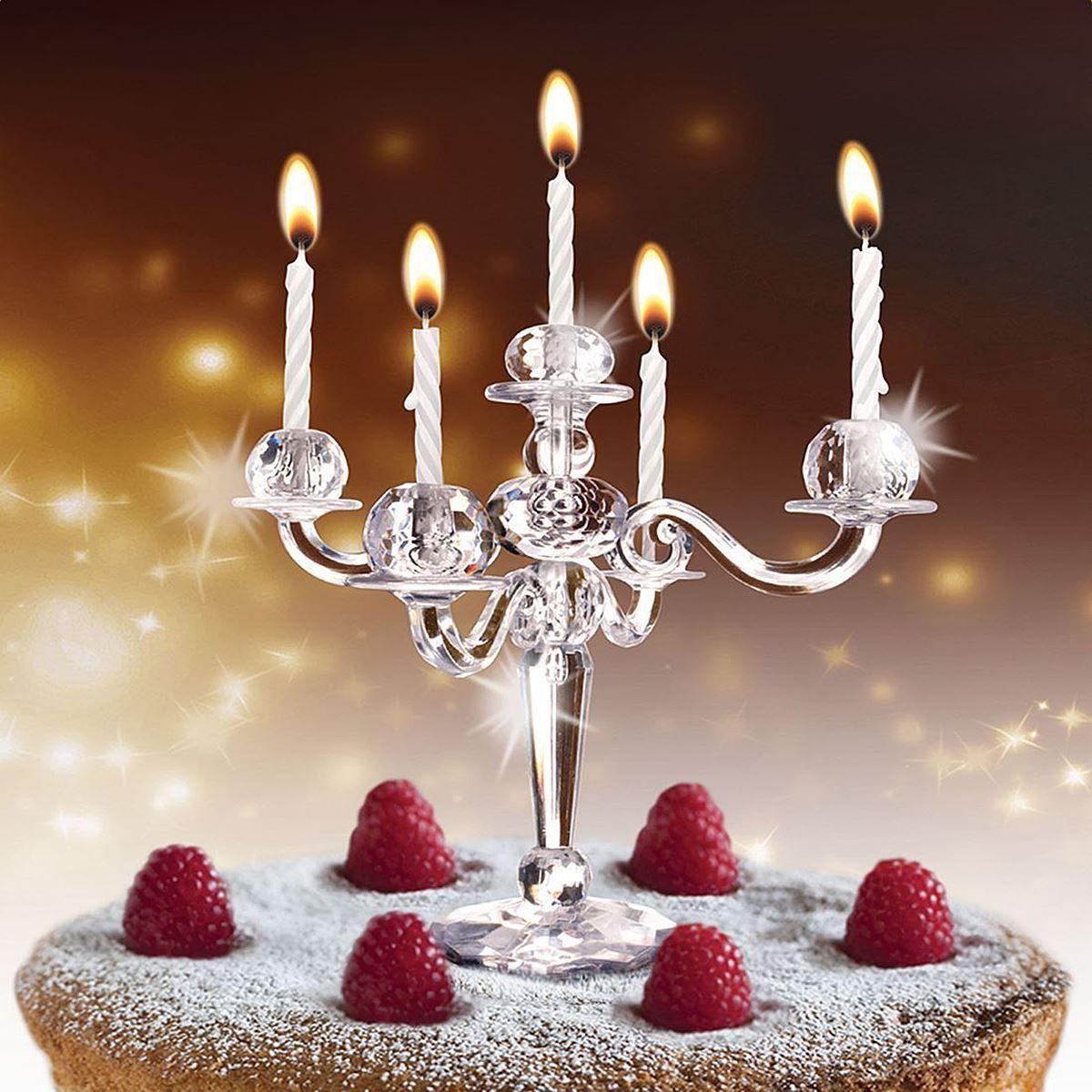 Hoobbe Bling Cake Candelabra Birthday Candles Candle Holder