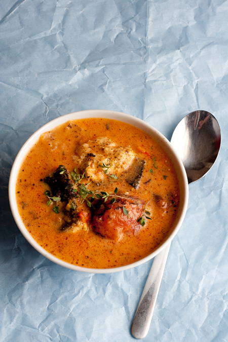 & Coconut Fish Soup - can use shrimp boullion instead and any fish that wont flake. maybe pieces of tofu?Tomato & Coconut Fish Soup - can use shrimp boullion instead and any fish that wont flake. maybe pieces of tofu?