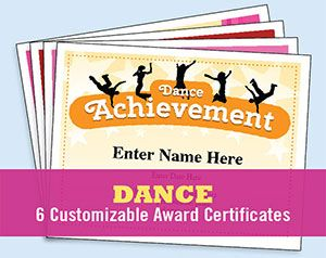 Dance certificate templates certificate dancing and template dance certificates templates six great dance certificates to choose from personalize print and yadclub Gallery