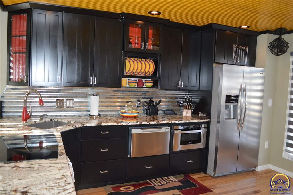 Black Cabinets With Wood Ceiling Black Cabinets Home Decor Home