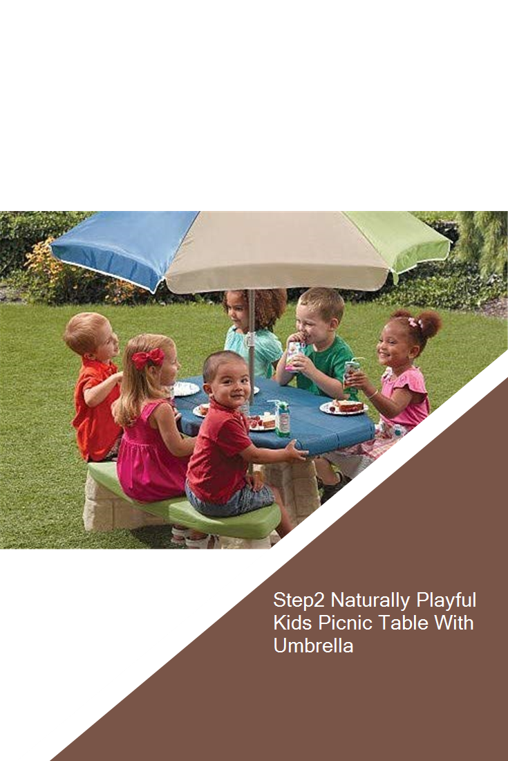 Step2 Naturally Playful Kids Picnic Table With Umbrella Kids