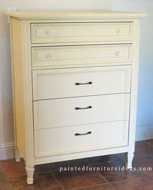 Dixie Dresser Refinished in Light Yellow #furnitureredos