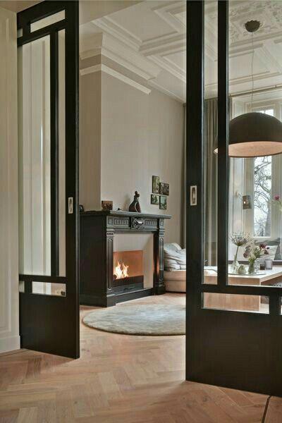 Schiebetüren Glas - Wood Design #amenagementmaison