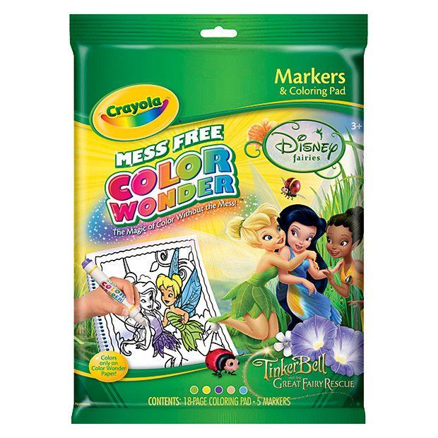 Crayola Mess Free Color Wonder Disney Fairies Tinkerbell Great Fairy Rescue 5 Color Wonder Free Coloring Disney Fairies