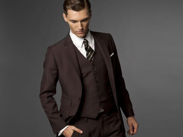 Dark Brown Suit For Men | Men's stylish dresses | Pinterest ...