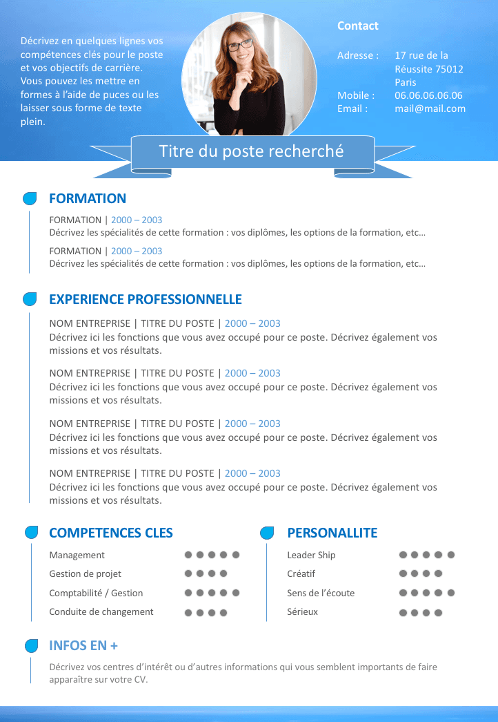 Afficher L Image D Origine Exemple Cv Exemple Cv Gratuit Exemple Lettre Motivation