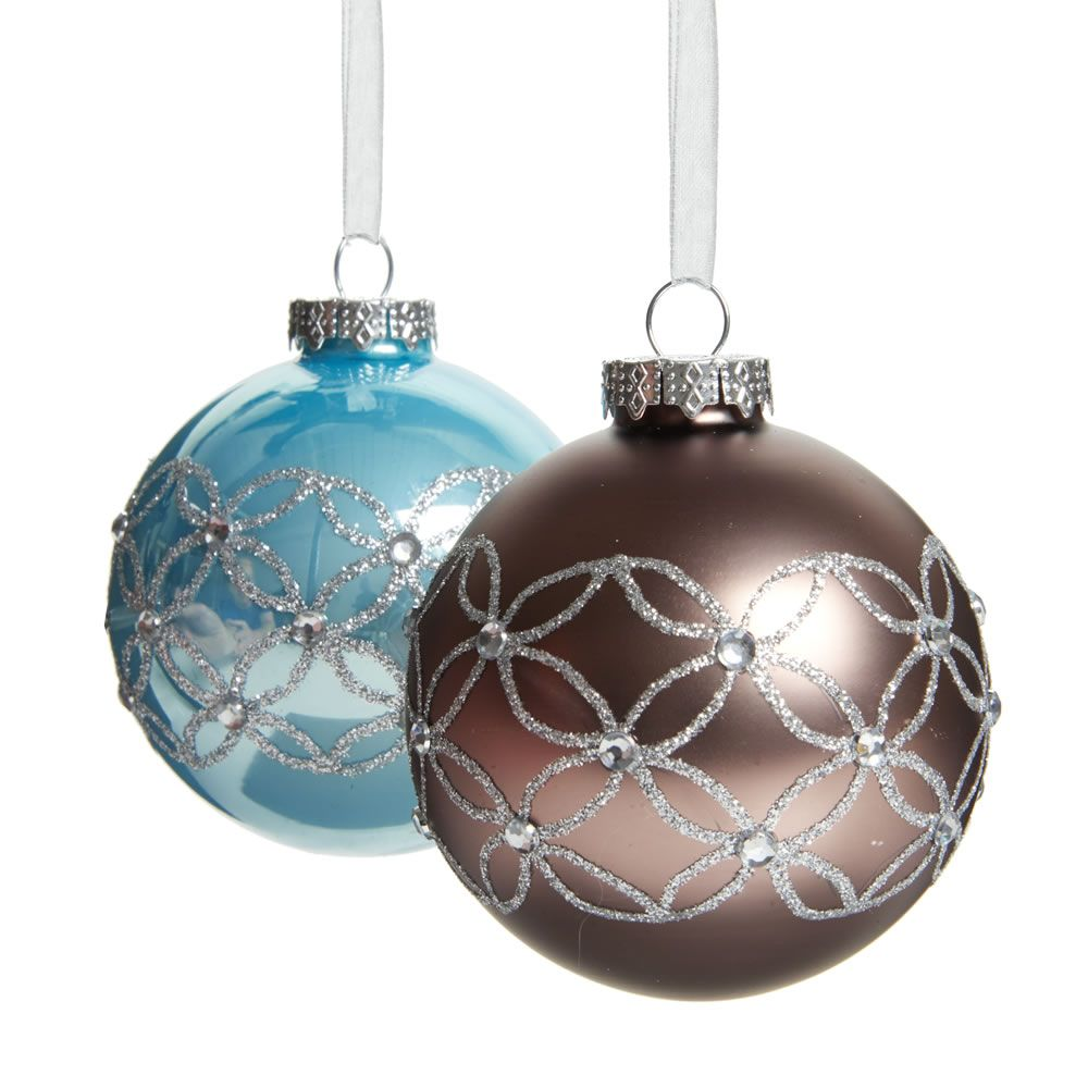 Wilko Enchant Gems Glass Bauble Wilko Christmas Wilko Glass Bauble