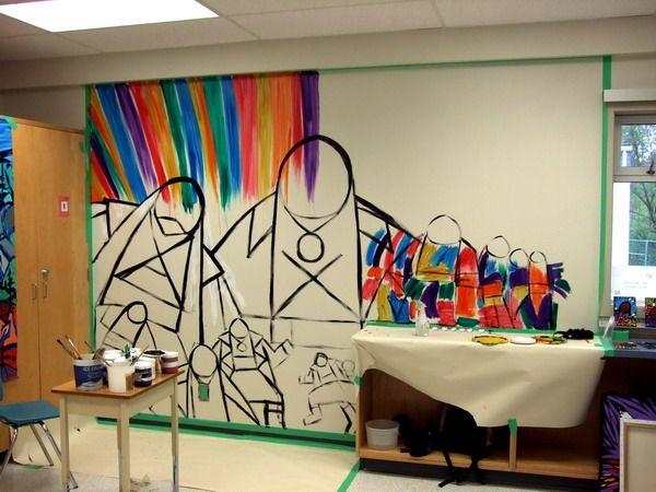 Classroom Mural Design ~ Classroom murals art therapy pinterest