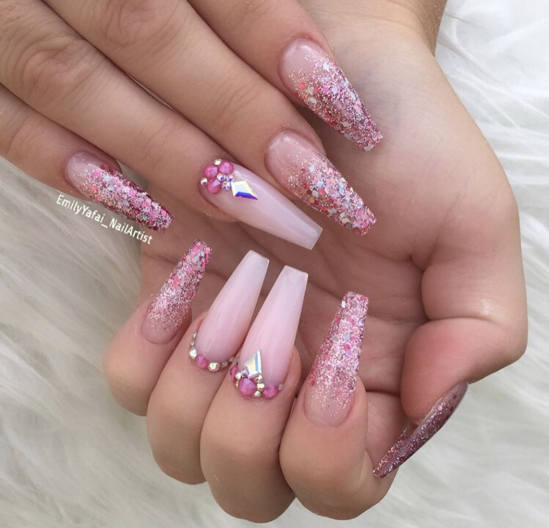 Pin By Christine Magda On Nails Pink Acrylic Nails Pink Nail Designs Acrylic Pink Nails