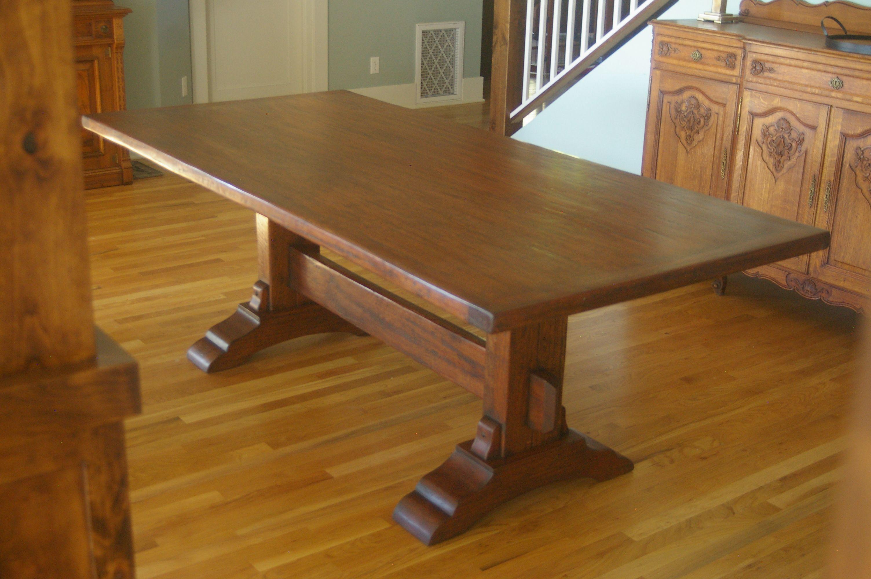 Solid Mahogany Trestle Table