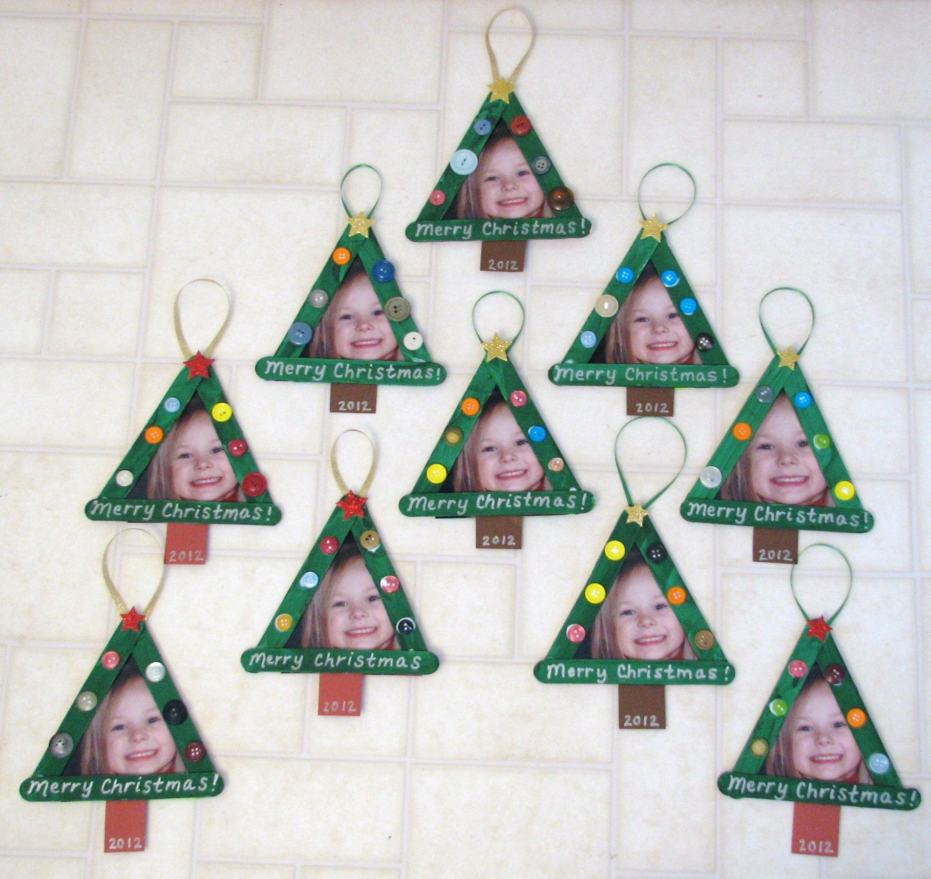 Christmas Picture Frame Craft Ideas Part - 31: Tree Popsicle Stick Frames. Popsicle CraftsStick CraftsChristmas ...