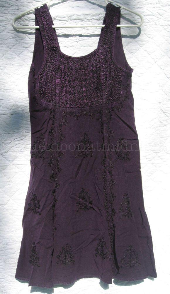 Purple Mini Dress Gothic Boho Festival Sleeveless Size XS S NWOT #HolyClothing