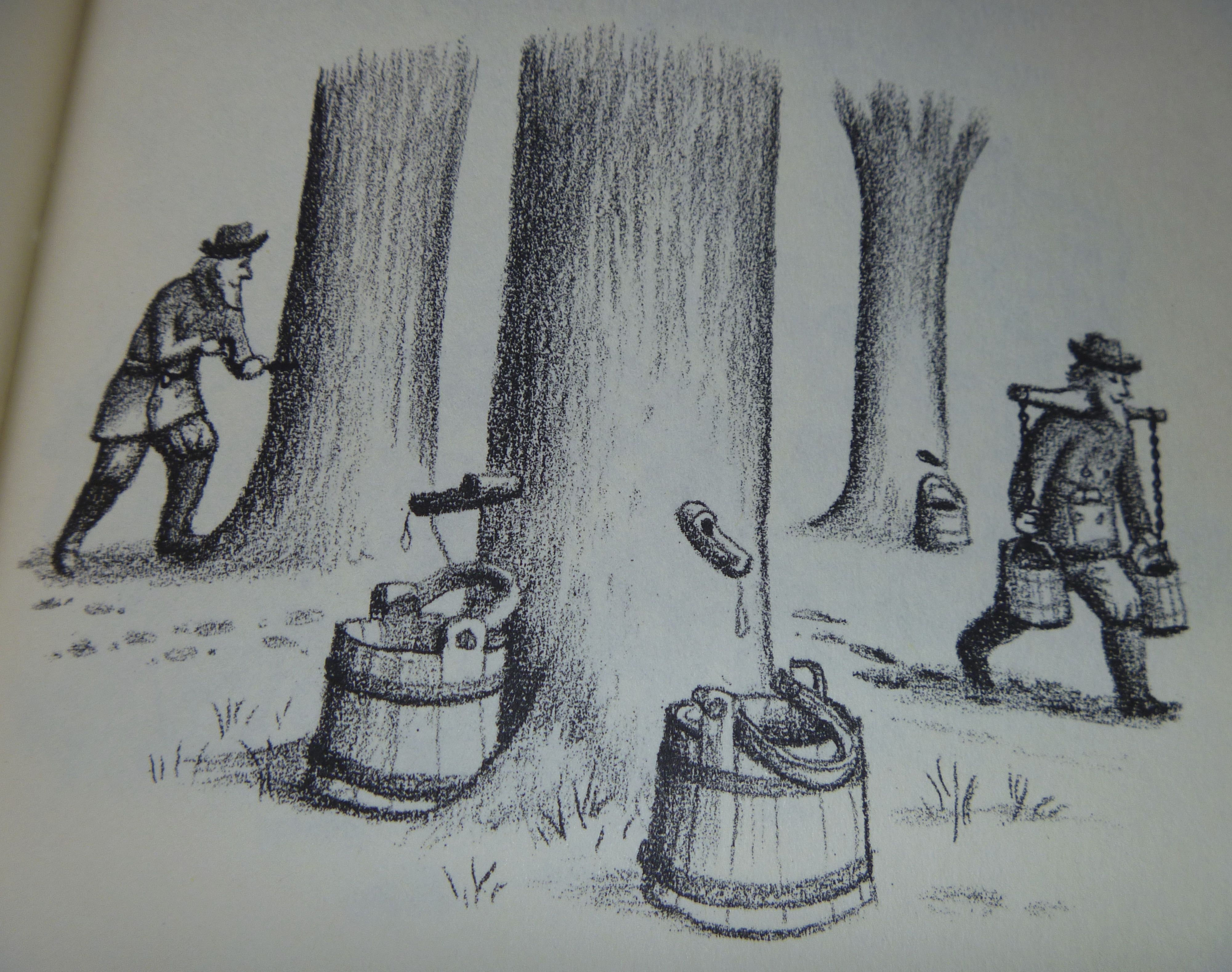 maple sugaring, Little House in the Big Woods (illustration, Garth ...