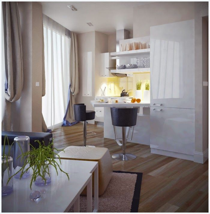 Cheap Loft Apartments: Small Apartment With A Ingenious Design (LIGHT)