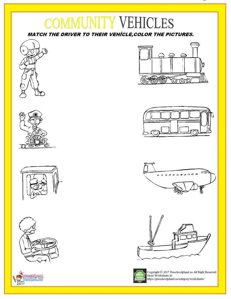 Pin On Worksheet For Kids Printable transportation worksheets for