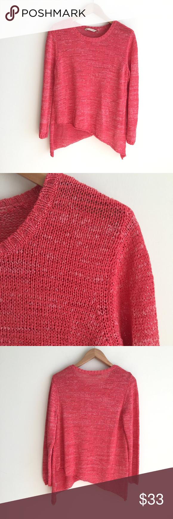 Soft Surroundings Asymmetric Knit Sweater Pink   Soft surroundings ...