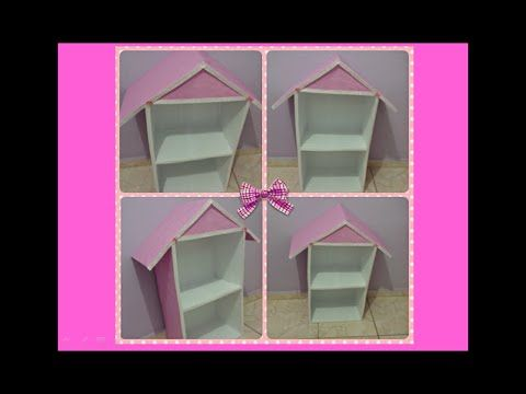 DIY - Casinha de Boneca de Papelão - Doll House - Casa de Muñecas
