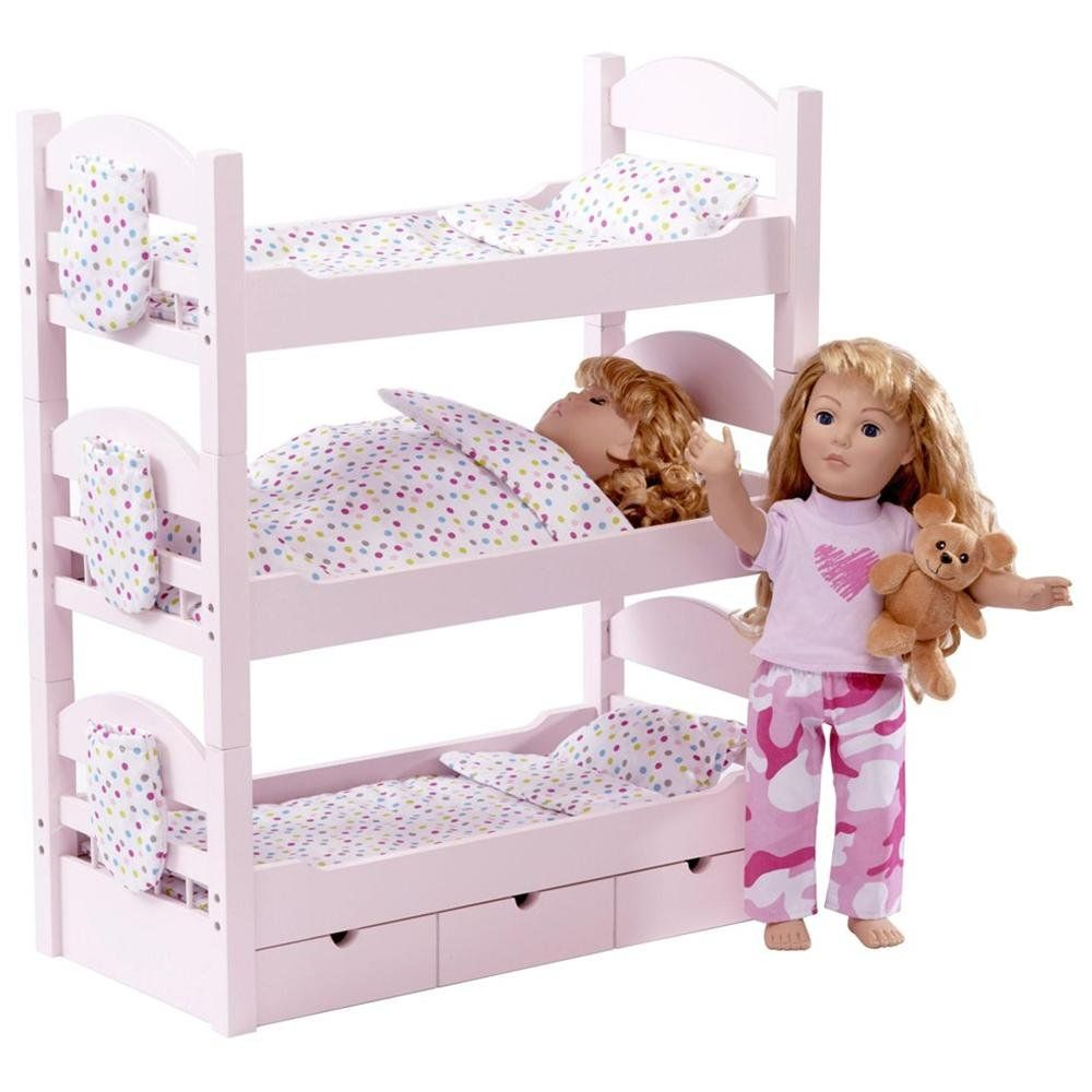 Toys R Us 18 Inch Doll Beds Triple Bunk Bed Dolls Beds