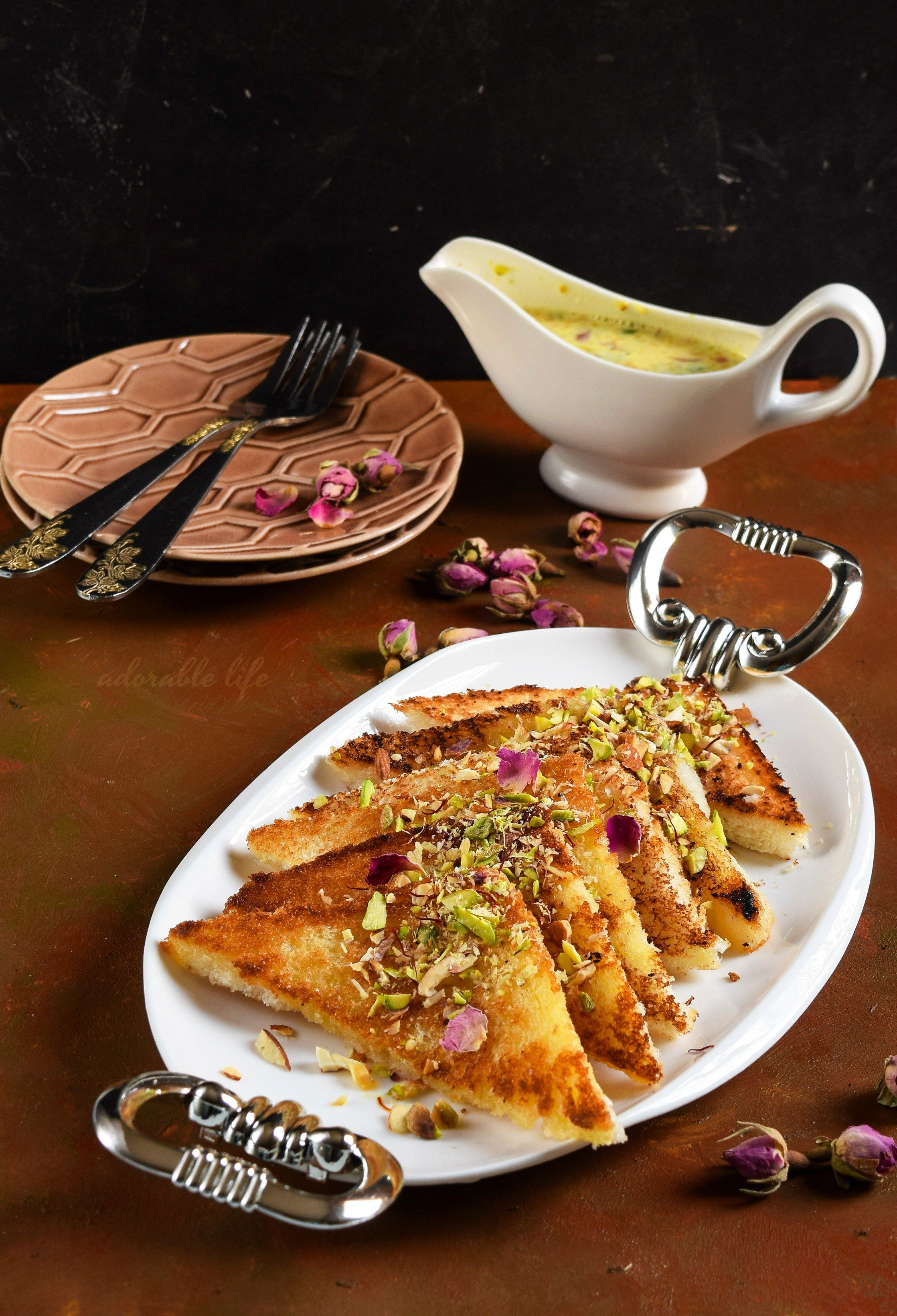 Shahi Tukda Recipes Sweet Condensed Milk Toast Recipes