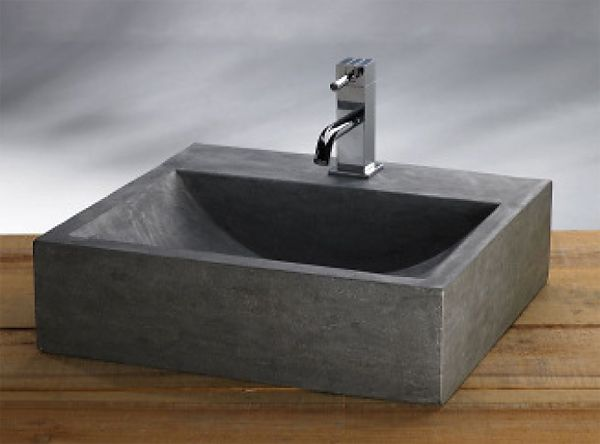 Megabad Bluestone Naturstein Handwaschbecken Eckig 50 Cm Online