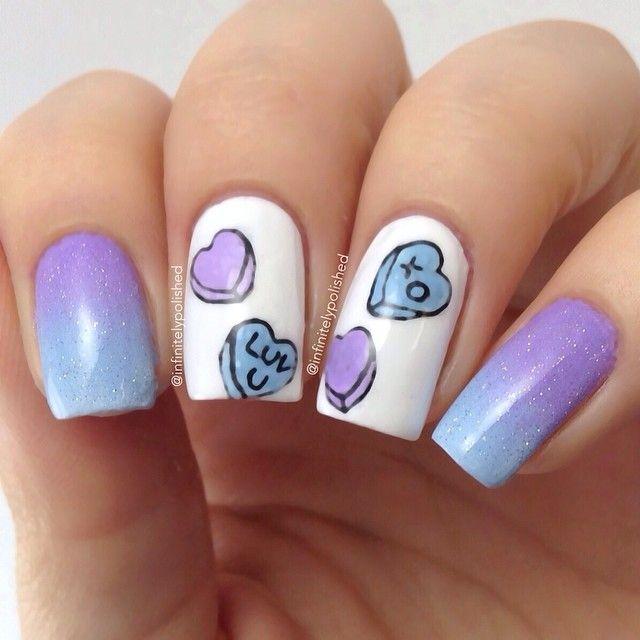 Nail Art Dan Extension Kuku: Valentine By Infinitelypolished #nail #nails #nailart