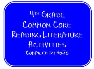 FREE list of Common Core Reading Literature activities and games