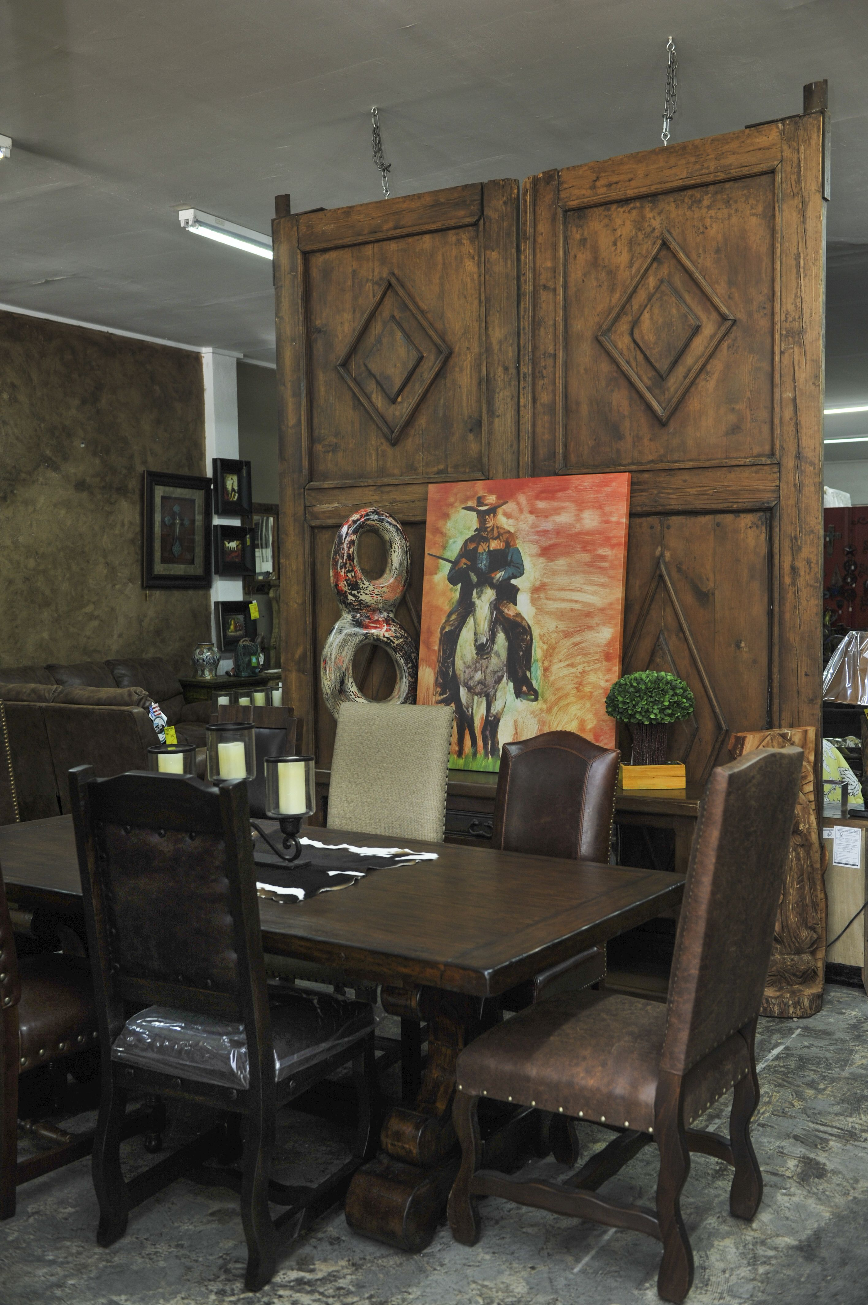 ... Rustic Furniture Store In Weatherford TX. Great Dinning Table With  Extention