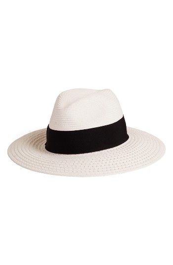 11f9669f2a8 Free shipping and returns on Nordstrom Wide Brim Straw Panama Hat at  Nordstrom.com. A wide grosgrain band and a wide