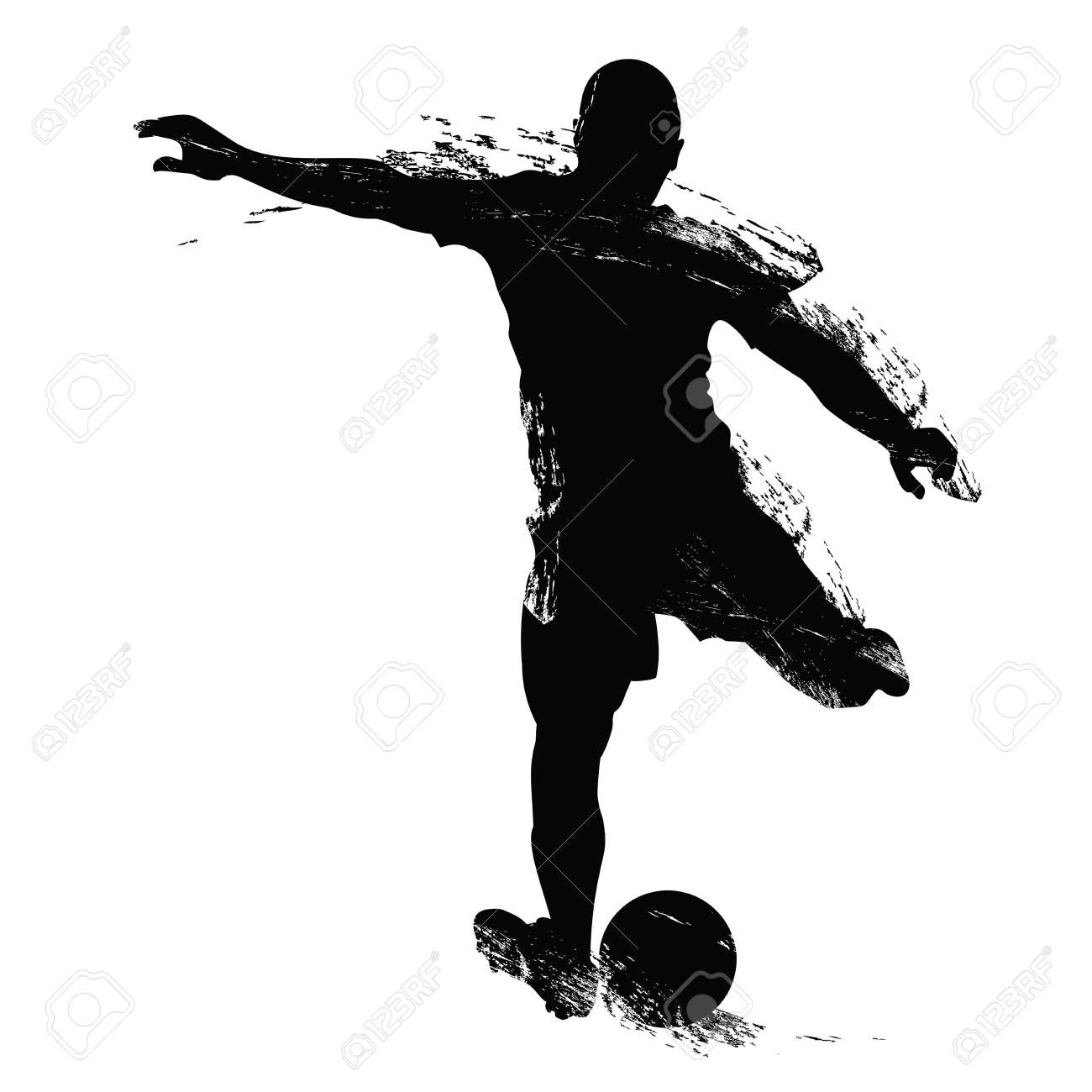 Vector Soccer Player Silhouette Player Shooting Isolated On White Background Illustration Affiliate Silho Photography Website Soccer Players Silhouette