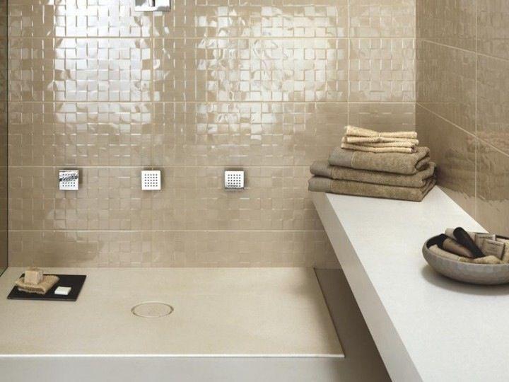 Piastrella effetto mosaico ceramiche marazzi sala da bagno