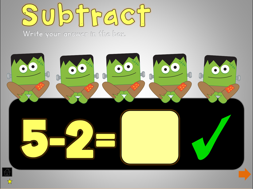 Halloween Math Games PowerPoint for Smart Board and interactive ...