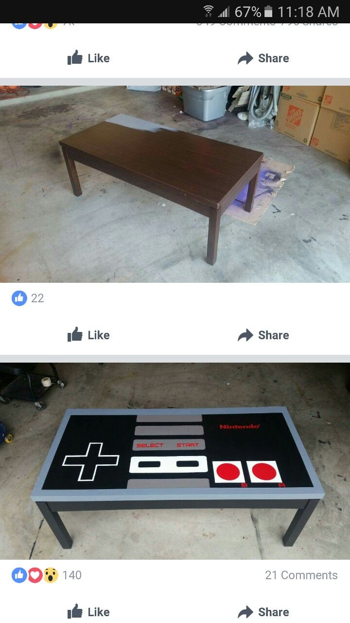 DIY Nintendo Controller Coffee Table (With images ...