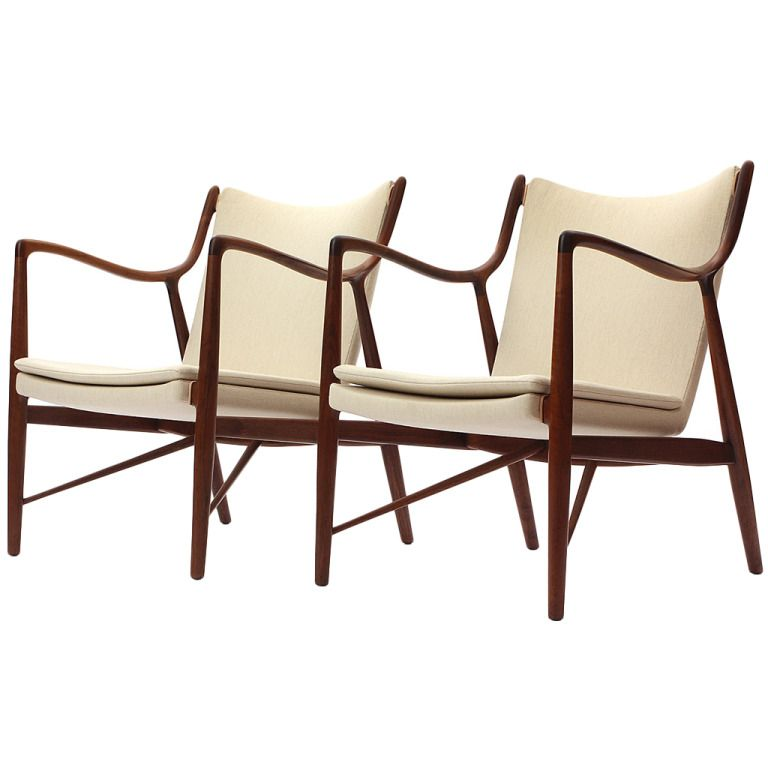 Pair Of 45 Chairs By Finn Juhl 1stdibs Com Scandinavian Furniture Design Furniture Design Modern Retro Furniture