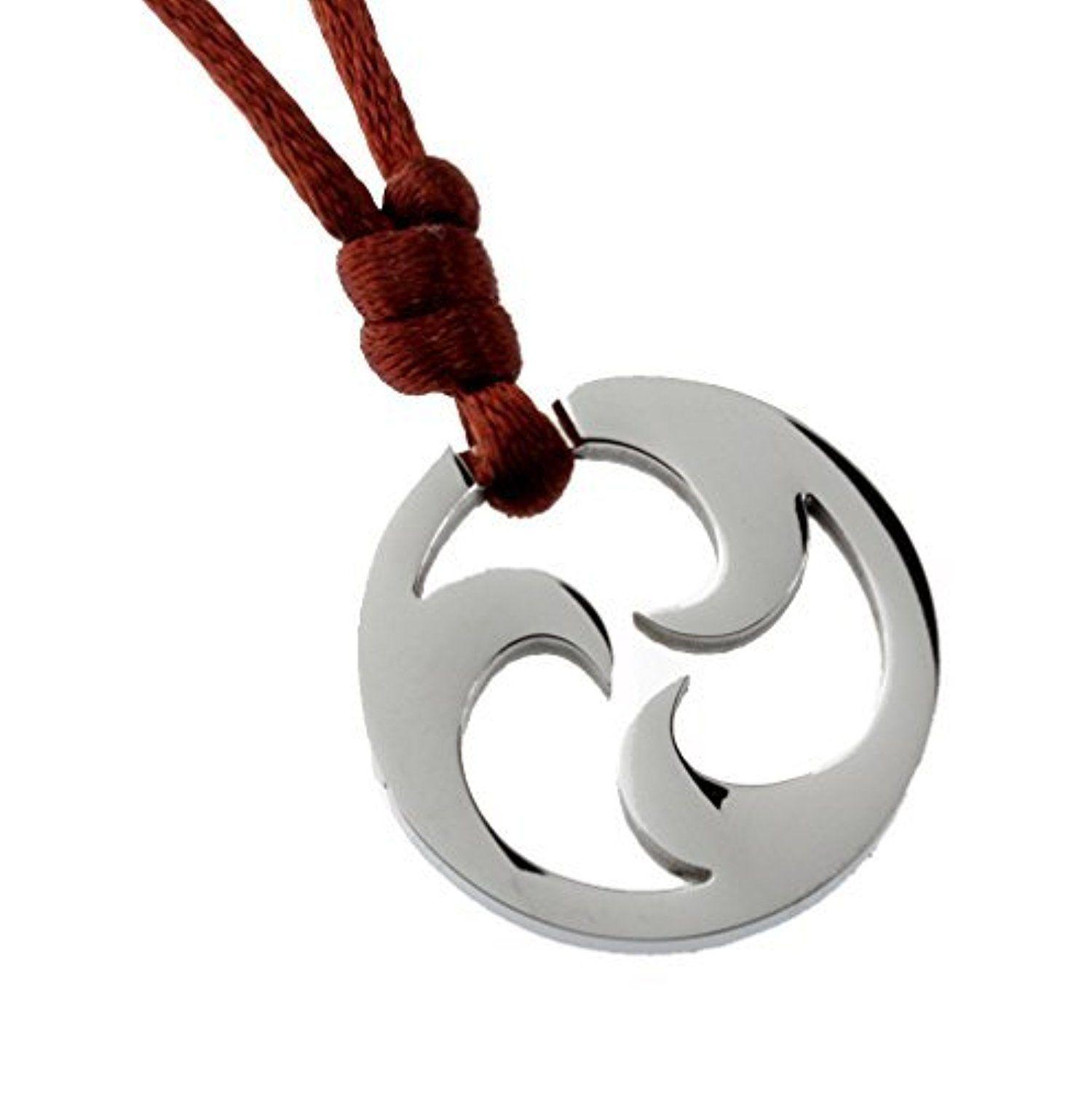 Rh jewelry stainless steel the koru tribal braided rope necklace