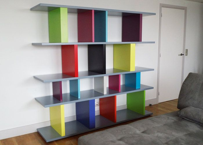 bibliotheque-sur-mesure-tu-lis-pied-creation-multicolore-mobilier ...