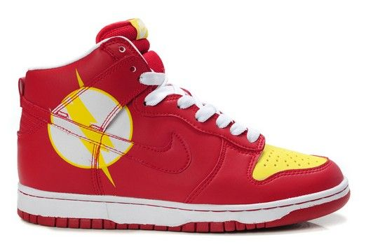 Nike The Flash High Tops Dunk Comic Shoes For Sale : Cool High