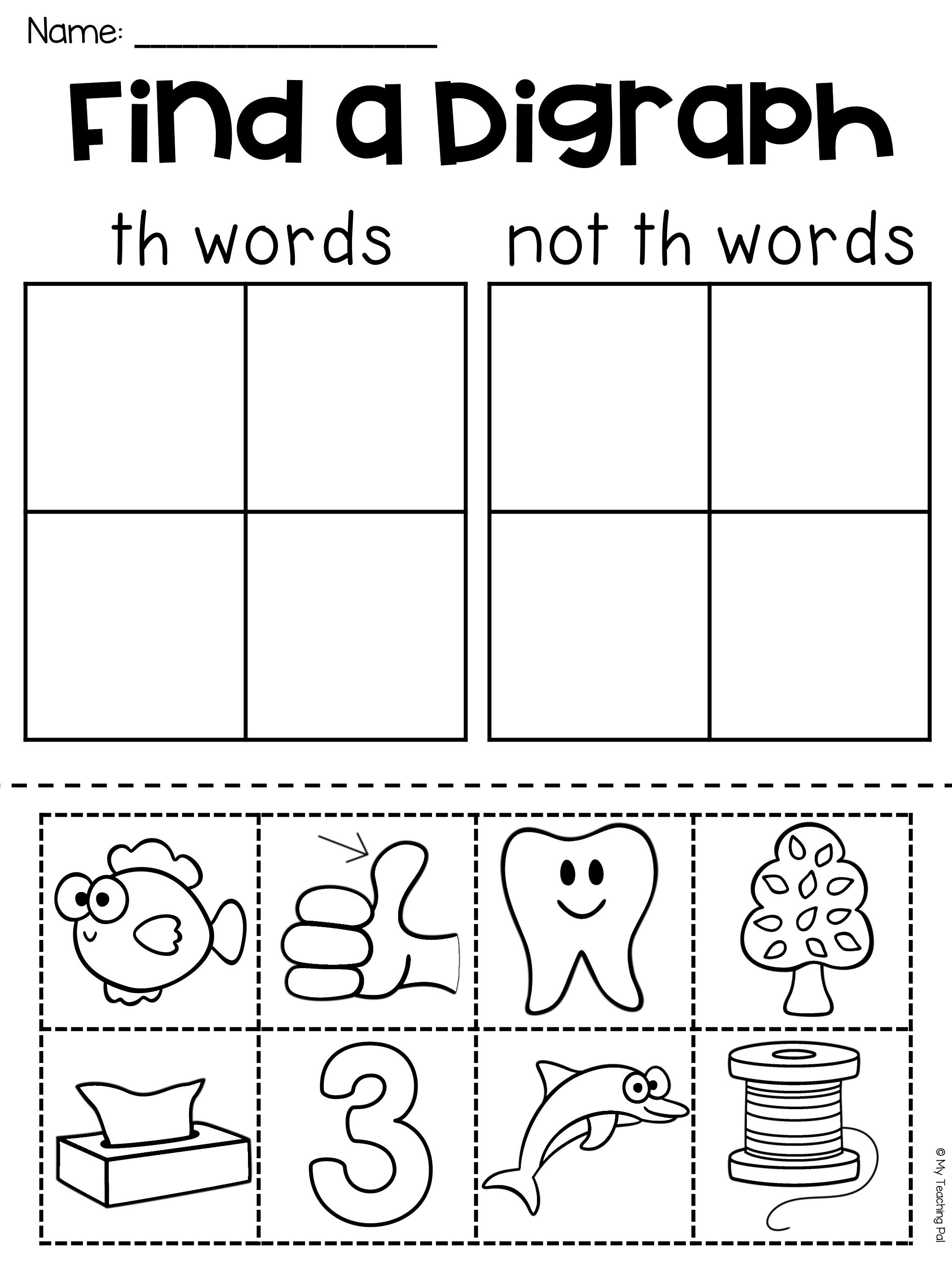 Digraphs Ch Worksheets And Activities No Prep K1