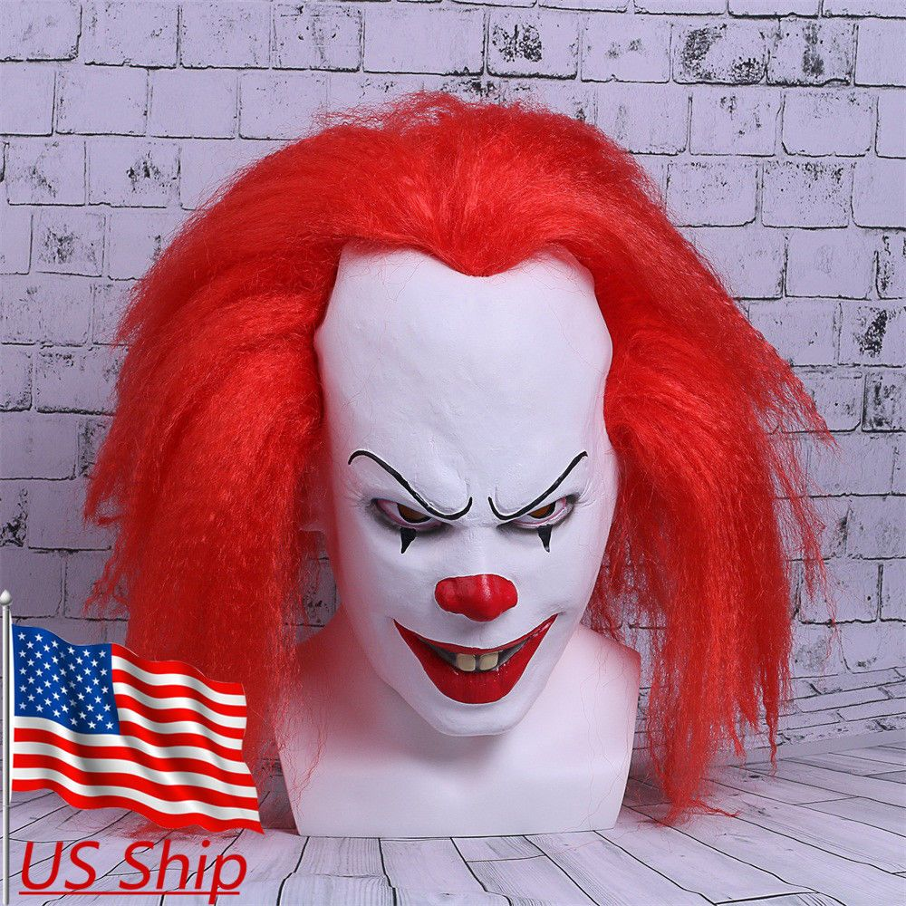 Red Stephen King's It Clown Pennywise Mens Adult Halloween