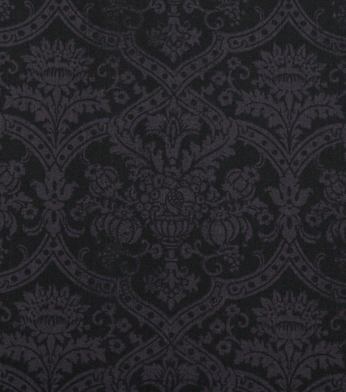 Keepsake Calico Cotton Fabric 108''Black Medallion in