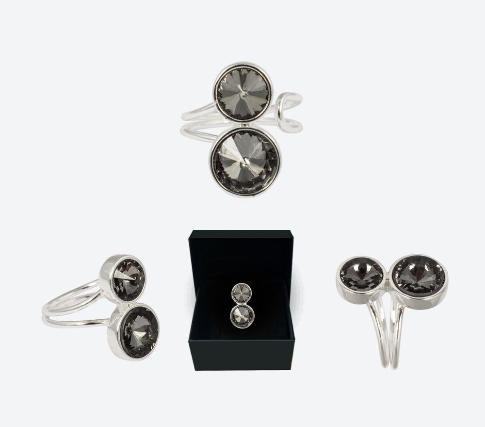 Jewelry from Ioaku  Kai Ring Silver/Smoke - 300kr