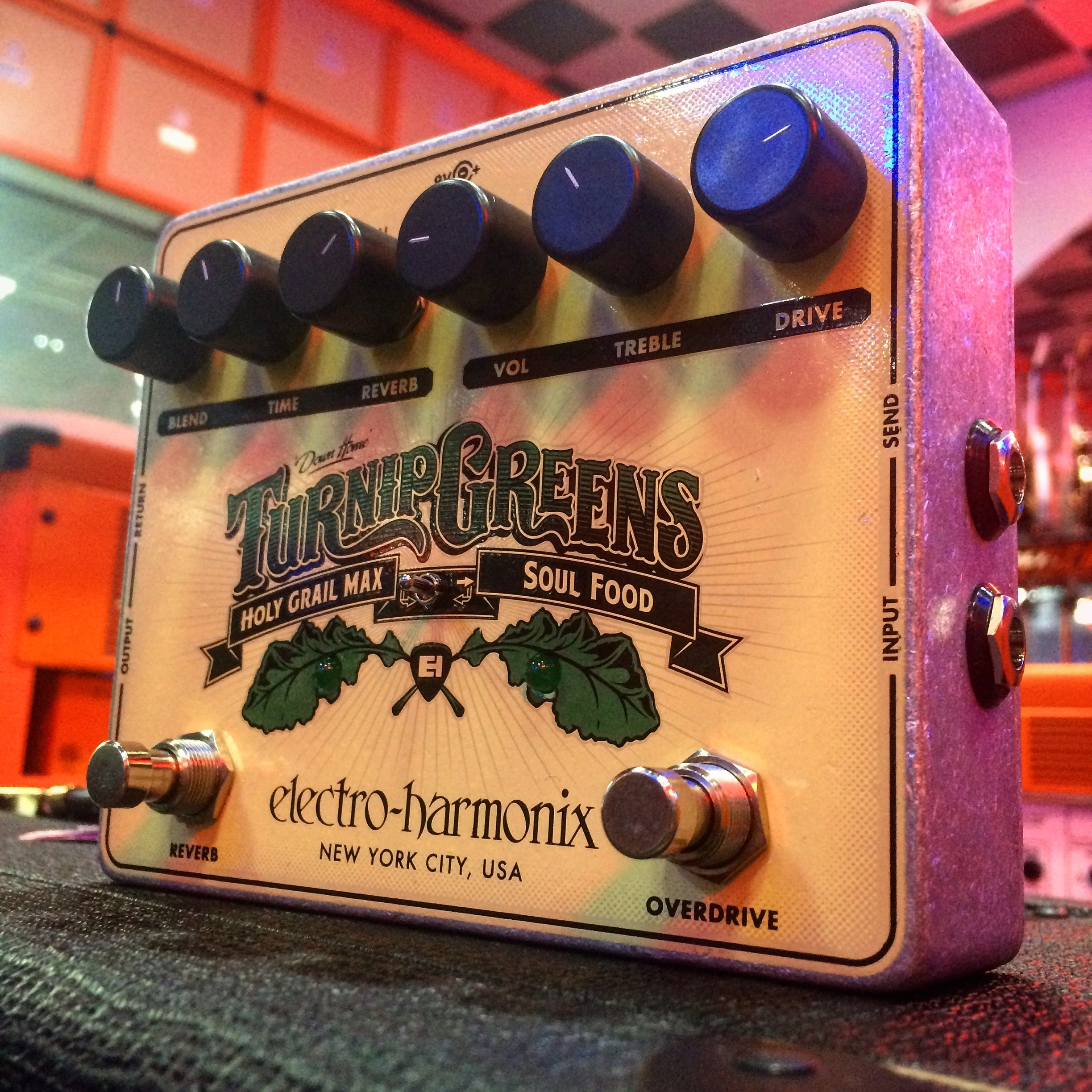 Ehx turnip greens soul food and holy grail max pedal http