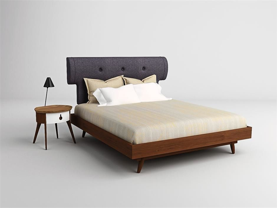 A Simple Yet Retro Bedroom Set Made With Malaysian Sepetir Hardwood In The N1 Collection