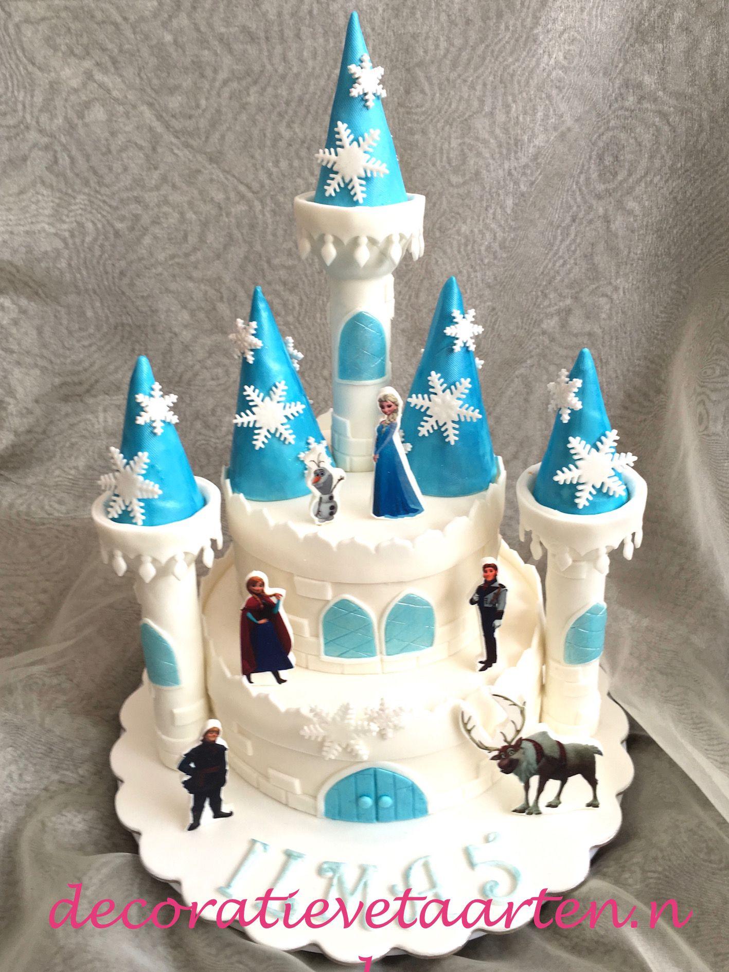 Betere Taart 'Frozen - kasteel' | Surprise - Frozen kasteel taart, Frozen PV-95