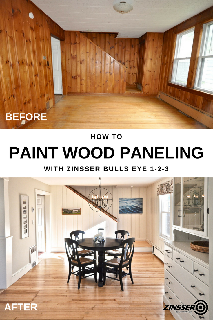 Living Room Wood Paneling Makeover: Say Goodbye To 1970's Knotty Pine Wood Paneling And Give