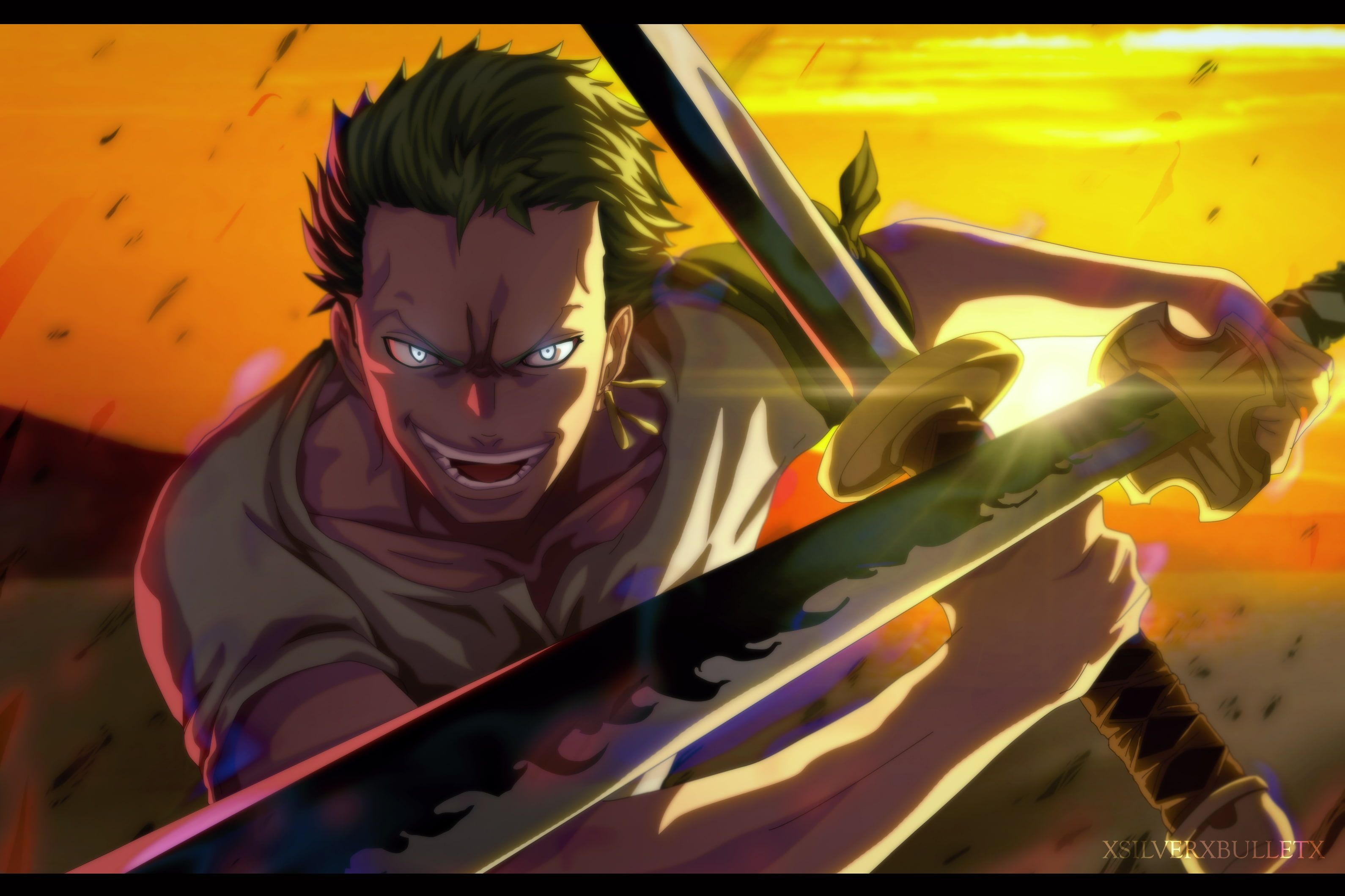 One Piece Roronoa Zoro Katana Green Hair 2k Wallpaper Hdwallpaper Desktop One Piece Wallpaper Iphone Roronoa Zoro Chibi Wallpaper