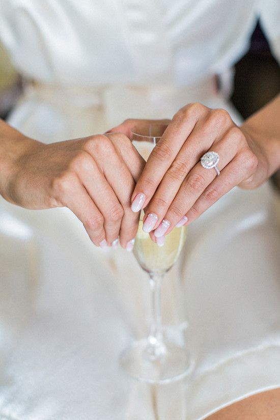 Wedding ring and nails