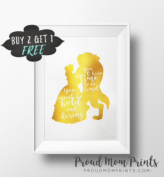 Wall Art Disney Print Beauty And The Beast Disney Quotes | Furniture ...