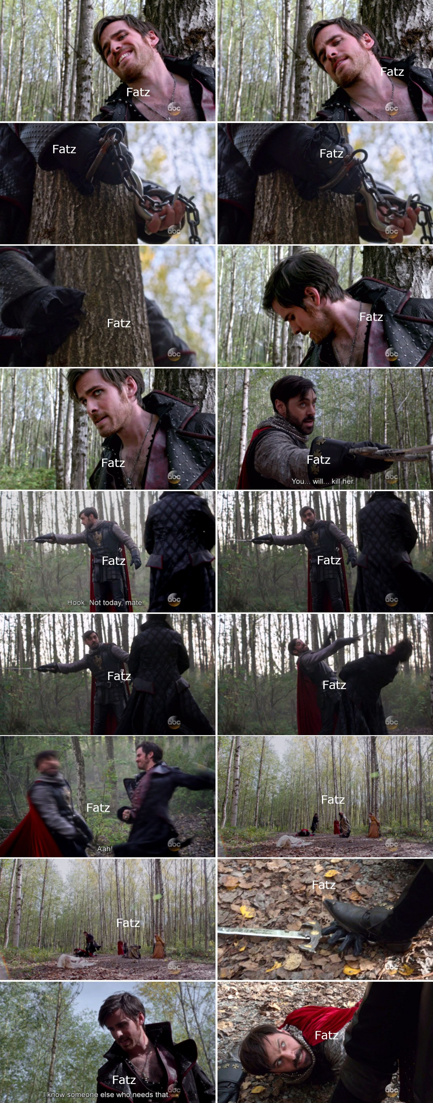 "Killian Jones and King Arthur - 5 * 8 ""Birth"""