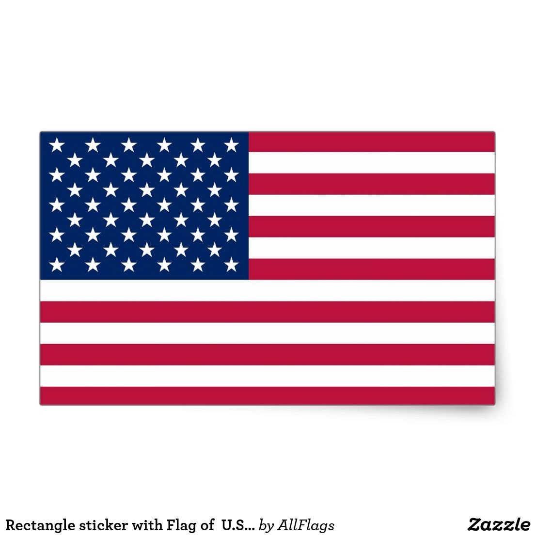 Rectangle Sticker With Flag Of U S A Zazzle Com American Flag Decal American Flag Sticker Usa Flag Stickers