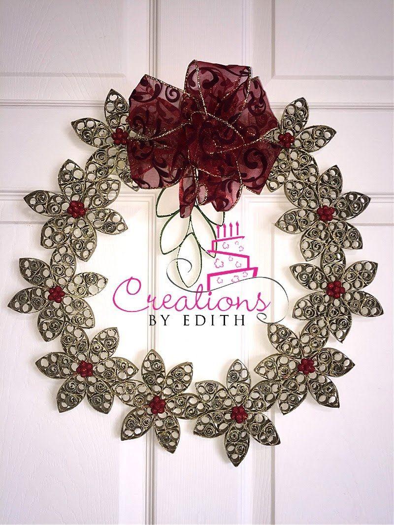 Paper Christmas Wreath Corona Navidena De Papel Coronas Navidenas - Corona-navidea